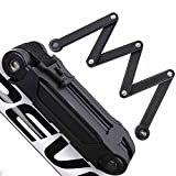 ANTIMAX Ultra Strong Alloy Steel 6 Joints Folding Bike Lock Bicycle Lock with 3 Keys Anti Theft Black Review