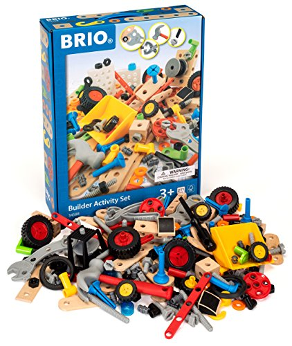 (Brio Builder - 34588 Builder Activity Set | 211 Piece Building Set for Kids Ages 3 and)