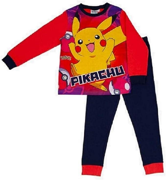 Kids Birthday Gift Idea Boys Pokemon Gifts Childrens Clothes Official Merchandise School Boys PJs Pokemon Pikachu I Choose You Boys Long Pyjamas Set