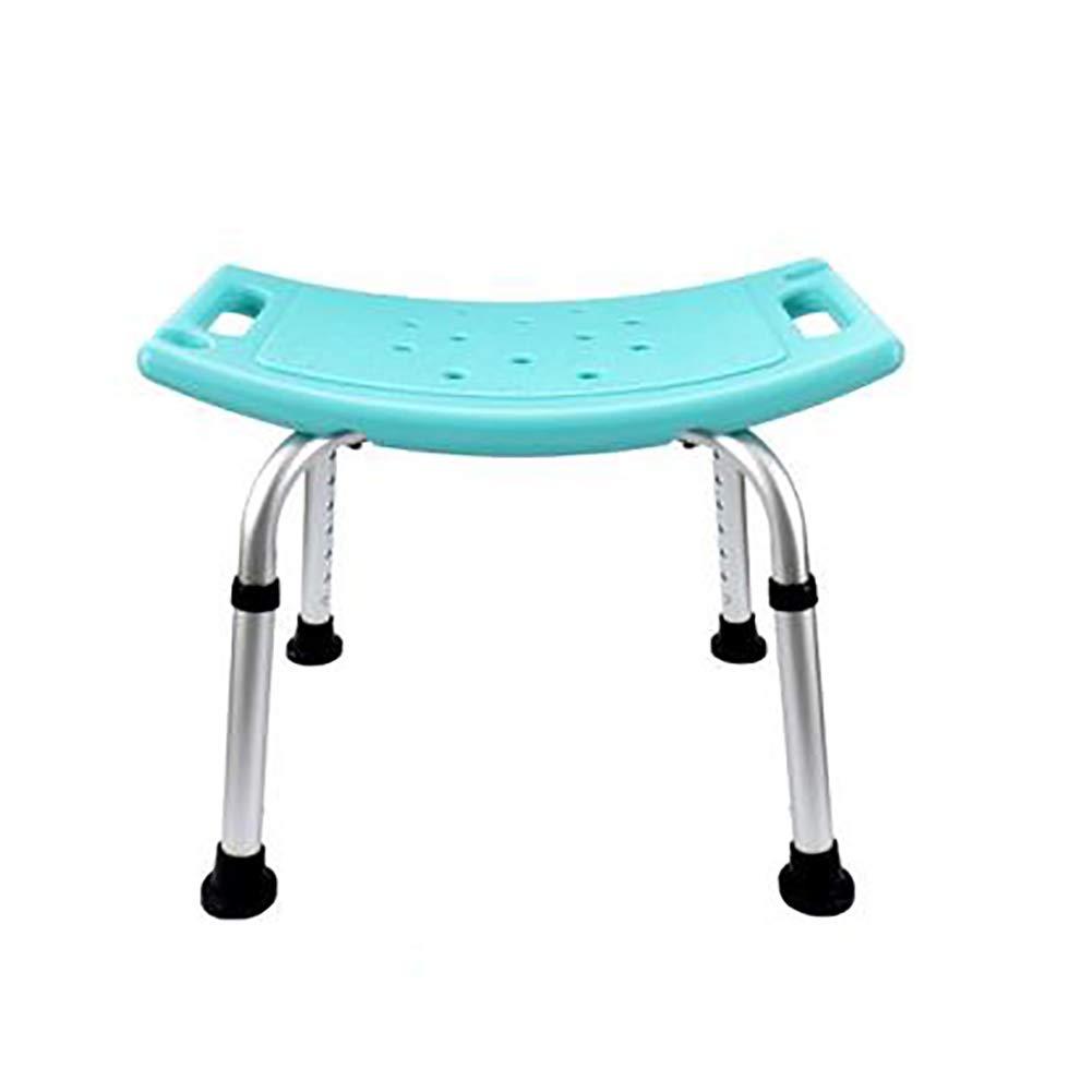 Ai Flush Chair, Adjustable Shower Chair Bathroom With Armrest Bath Bench Anti-skid Bench Seat (blue)