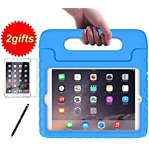 SUPLIK Kid-Proof Drop-Resistant Lightweight Protective Handle Stand Case with Screen Protector and Stylus for 7.9 Inch iPad Mini 1 2 3 Tablet, Blue