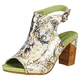 Laura Vita Bernie 20 Dore Womens Sandals Gold Green - 37 EU