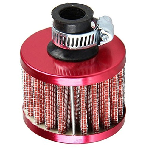 Air Intake Filter - SODIAL(R)Car Motor Cold Air Intake Filter Turbo Vent Crankcase Breather Red -  SODIAL (R), 076148A2