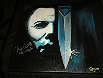 NICK CASTLE Signed 18x18 Art ORIGINAL Art Painting Michael Myers Halloween