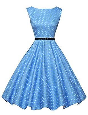 GRACE KARIN Women's 1950's Vintage Sleeveless Swing Dresses JS6086