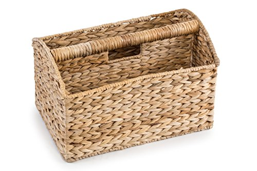 Trademark Innovations Banana Leaf Magazine Basket and Rack by Trademark (Banana Leaf Basket)