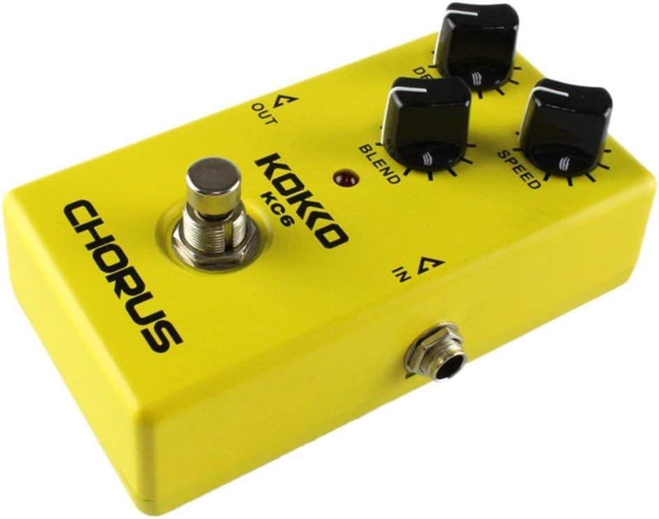 Lorenlli Fit KC06 Pedal de efectos de guitarra eléctrica Chorus Low Noise BBD True Bypass Pedal de efectos de guitarra profesional con función flexible