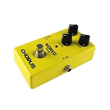 Lorenlli Fit KC06 Pedal de efectos de guitarra eléctrica Chorus Low Noise BBD True Bypass Pedal de efectos de guitarra profesional con función flexible: ...