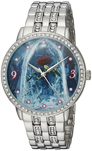 Disney Women's 'Beauty' Quartz Metal and Alloy Casual Watch, Color:Silver-Toned (Model: WDS000317)