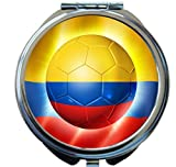 Rikki Knight Brazil World Cup 2014 Colombia Football Soccer Flag Design Round Compact Mirror