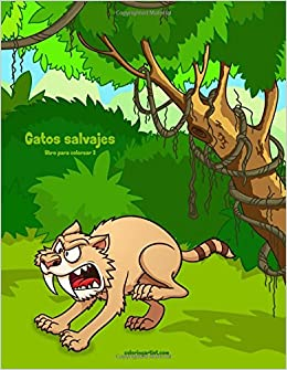 Gatos salvajes libro para colorear 2 (Volume 2) (Spanish Edition): Nick Snels: 9781717015105: Amazon.com: Books