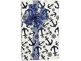 Blue Indigo Anchors 24''x417' Roll