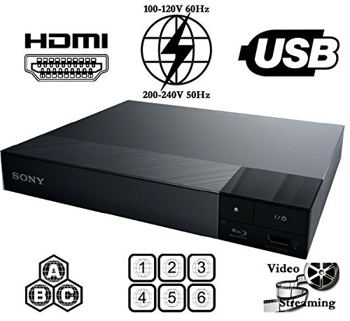 - Sony All Region Free Blu Ray A B C and DVD Player, and 6 feet hdmi Cable (Bundle)