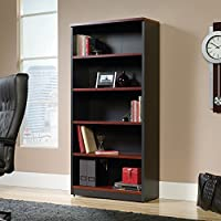 Sauder Via 5 Shelf Bookcase in Classic Cherry
