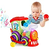 Baby Toy Train,VATOS Drop and Go Train Toys,Car Toy Train with Chasing Balls Light Talking Music,Electric Toddler Toys for 1 2 3 Year Old,Early Educational Toys Best Gift for 1.5+ Year Old Boys Girls