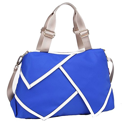 Phoenix Costume Rental (FCZERO HB40062 Nylon Handbag for Women,Leisure Solid Splicing Packet,Blue)