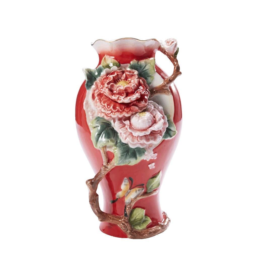大きい陶磁器の花瓶お祝いの結婚式の水耕貯蔵の花の高い花瓶 anQna B07SCYBSYN