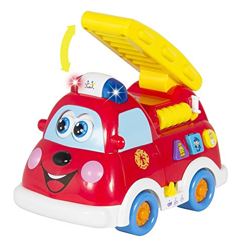 [Angelwing Fire Truck Baby Kid Toy with Lights and Sirens] (Indian Policeman Costume)