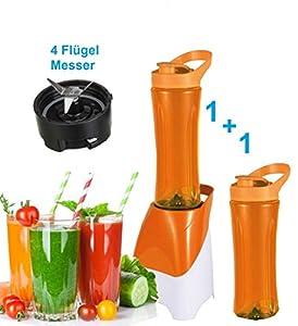 Smoothie-Maker 2 GO inkl 3 Trinkbecher Mini-Blender Icecrusher Standmixer...