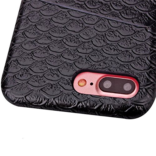 iPhone 7 Plus Hülle, Apple iPhone 7 Plus Hülle, Lifeturt [ Schwarz ] Gemalt Mode-Design PC Hardcase Handycover Schutzhülle Etui Telefon-Kasten Hülle Case für Apple iPhone 7 Plus 5.5 inch