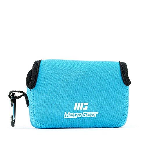 MegaGear 'Ultra Light' Neoprene Camera Case Bag with Carabiner for Panasonic Lumix DC-ZS70, Lumix DC-TZ90, DMC-ZS100, TZ100, TZ101 (Blue)