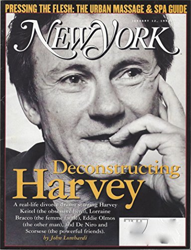 - New York Magazine January 12, 1998, Vol. 31, N° 1: Harvey Keitel Trying to Win Custody of his Daughter, The Urban Massage & Spa Guide, & other articles