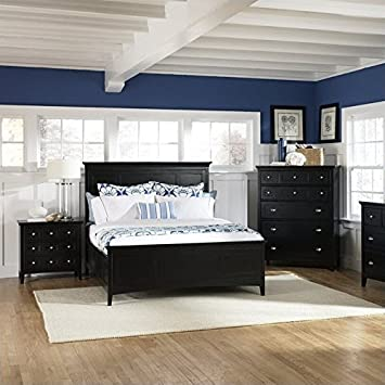 Magnussen Southampton Panel Bed In Black   Queen