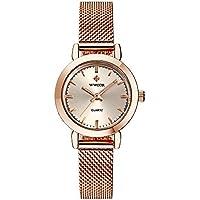 WWOOR Women's Watches Quartz Watch Ladies Wrist Watches for Women Stainless Steel Strap Rose Gold