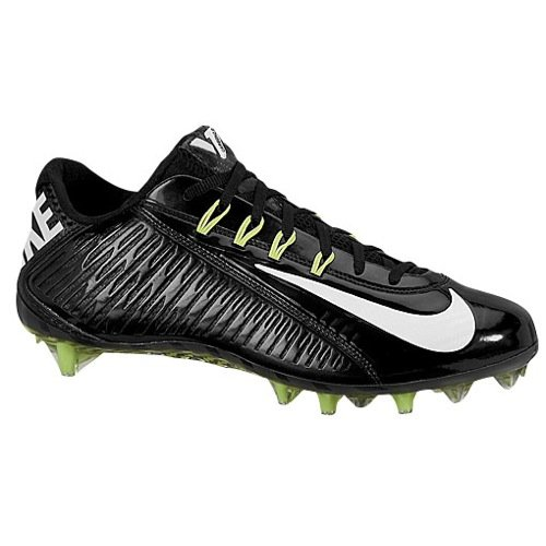 NIKE Vapor Carbon Elite TD Mens Football Cleats (15, Black/White)