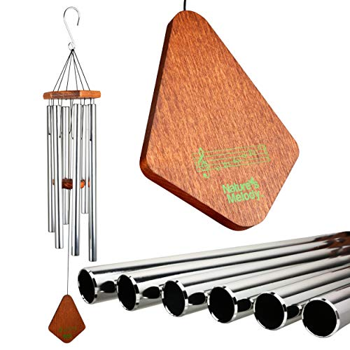 - Nature's Melody Wind Chimes, Premiere Grande Tunes Unique Metal Tubes, Great as Sympathy, Memorial, or Bereavement Gifts, Beautiful Garden Decor Outdoor or Indoor, Men or Women, Silver, 36 Inches Long