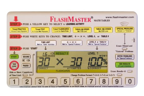 Flashmaster: Handheld Computer for Mastering All Basic ''Math Facts'' that Makes Flashcards Obsolete by FlashMaster (Image #5)