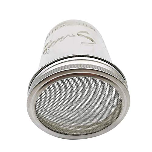 CUSFULL 6 Pack Sprouting Lids for Wide Mouth Mason Jars -Stainless Steel Strainer Lid for Canning Jars and Seed Sprouting Screen by CUSFULL (Image #3)