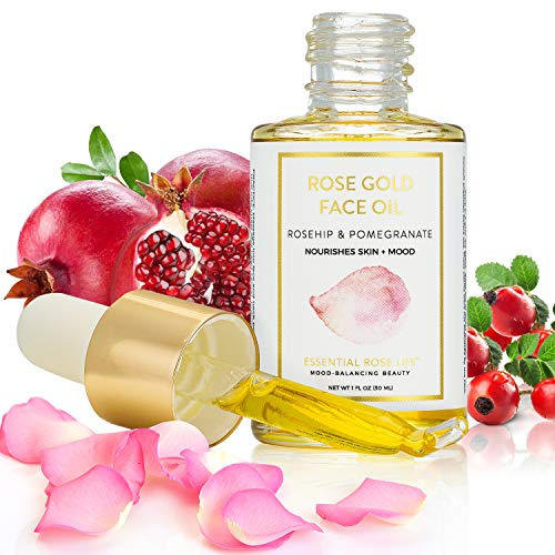 Rose Gold Face Oil by Essential Rose Life | Organic Moisturizing Face Oil | 30ml ()