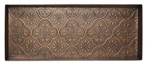 HF by LT Medallion Pattern Metal Boot Tray, 30