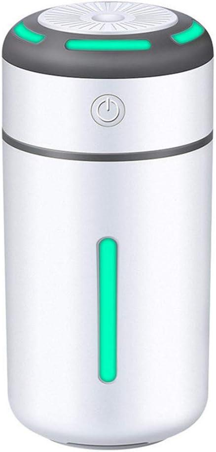 WPFC Mini Humidificador Purificador De Aire para Auto, Humidificadores De Aire Ultrasónicos con 7 Colores De Luz, Alimentación USB, Filtro Gratis, Apagado Automático ...