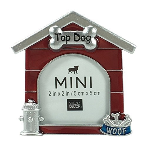 Stocking House Picture Dog Frame - Studio Decor Dog House Shaped Metal Mini Picture Frame 2 X 2