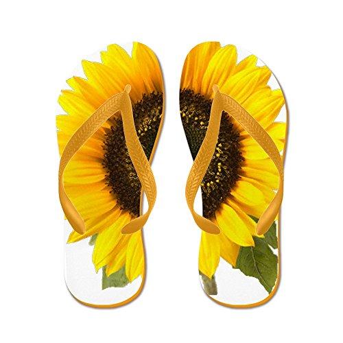 Cafepress Sunflower - Flip Flops, Grappige String Sandalen, Strand Sandalen Oranje