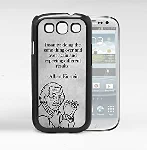 Albert Einstein Expecting Different Results Quote With Black And White Background (Samsung Galaxy S3 I9300)