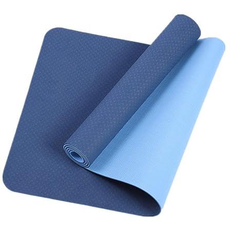 Estera de yoga Estera de yoga antideslizante Super gruesa ...
