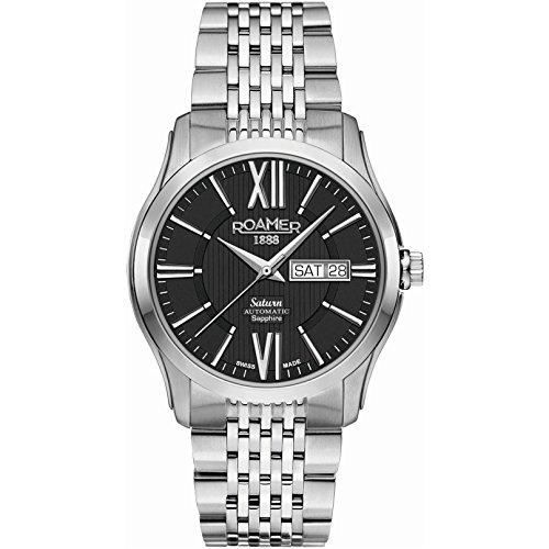 Roamer of Switzerland Men's Saturn II 40mm Steel Bracelet & Case Automatic Analog Watch 960637 41 53 90
