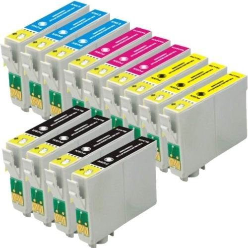 Inkforever Compatible Ink Cartridges Replacement for Epson 124 (4x Black, 3x Cyan, 3x Magenta, 3x Yellow, 13-Pack)T124