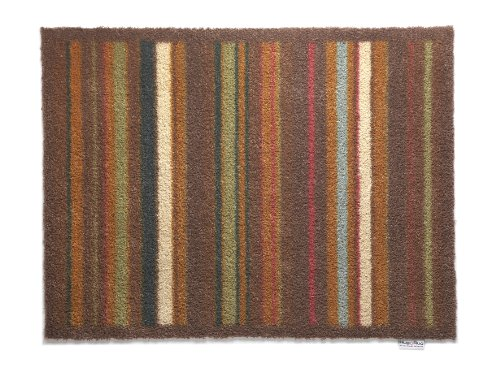 Hug Rug T106 Eco-Friendly Absorbent Dirt Trapping Indoor Washable Mat, 25.5-Inch x 33.5-Inch, Brown and Tan Multi - Tan Multi Stripe