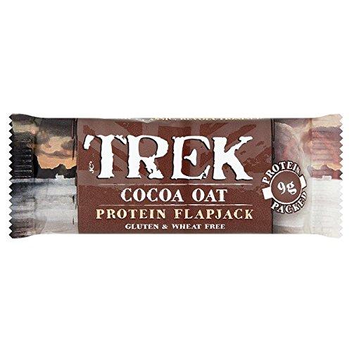 Trek cacao avena sabor proteína Flapjack chocolate cubierto 50g (paquete de 16 x 50 g