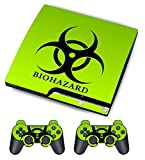 Cheap Skin Sticker for PS3 PlayStation 3 DualShock 3 Decals Custom Cover Cases Modding Game Sixaxis Vinyl Skins for Sony Play Station 3 Slim Console 2 Remote Controllers – Biological Harzard