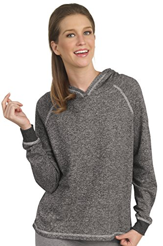 Pimatee Women's French Terry Boxy Hoodie Pullover XX-Large Black (Boxy 20 Pullover)