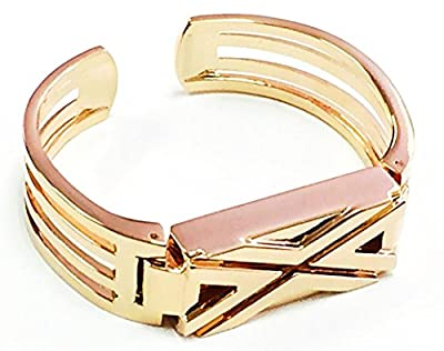 PL Metal Replacement Jewelry Bracelet with X Design for Fitbit Flex - Rose Gold