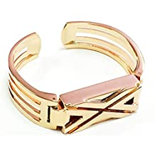 BSI New Rose Gold Metal Replacement Jewelry Bracelet With Unique Style X Design Rose Gold Metal Housing For Fitbit Flex Smart Band