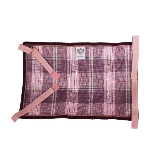 Kensington Belly Band For Horse Under Belly - Protects Under Belly When Attached to Traditional Cut Protective Sheet - Offers Maximum Protection Year Round - Plum Ice Plaid