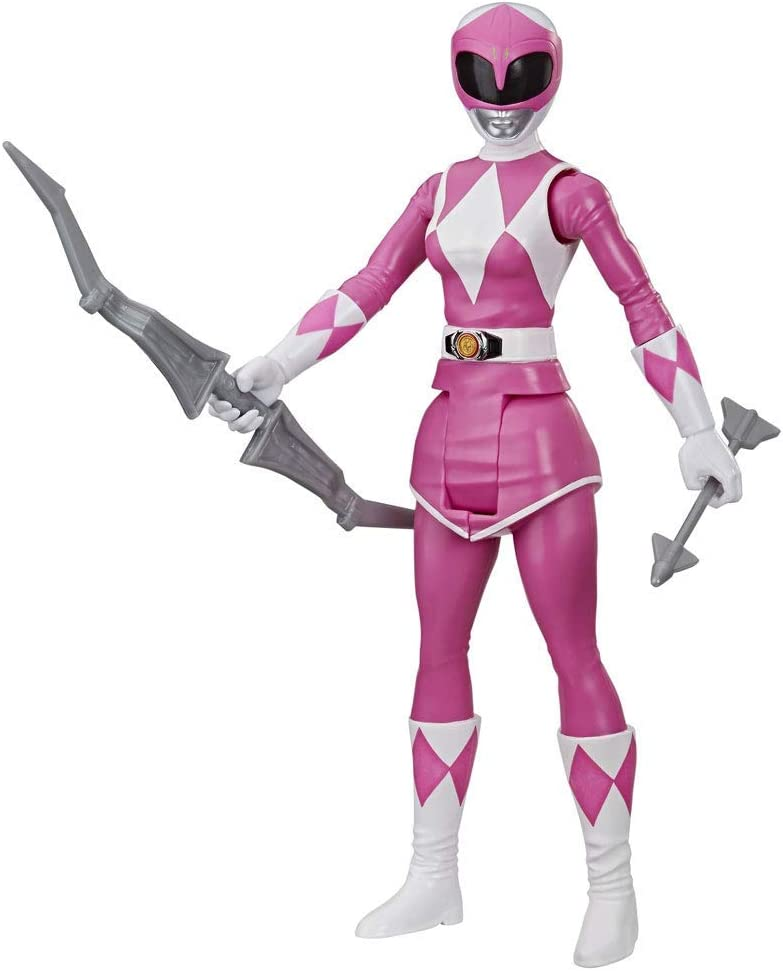 with Power Bow Accessory Power Rangers Mighty Morphin Pink Ranger 30 cm Action Figure Toy Inspired by Classic Power Rangers TV Programme