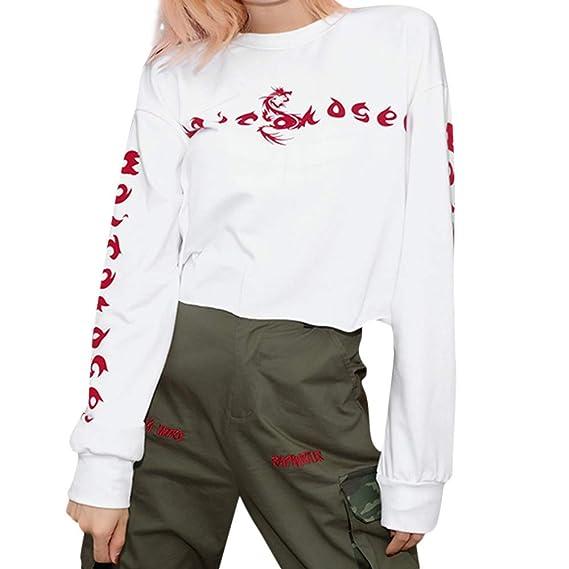Yvelands Blusas para Mujer a la Venta, Womens Sexy Perspectiva Silver Silk Suelta Ombligo Camisas